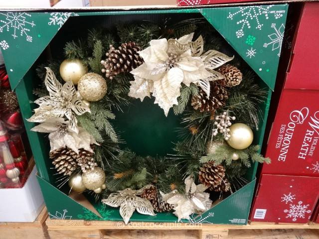 Kirkland Signature 32-Inch Decorated Wreath Costco 5