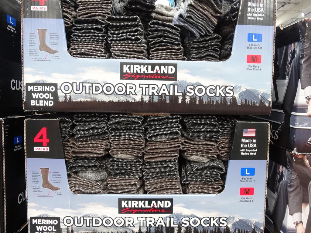 Kirkland Signature Men's Outdoor Trail Socks Costco 1