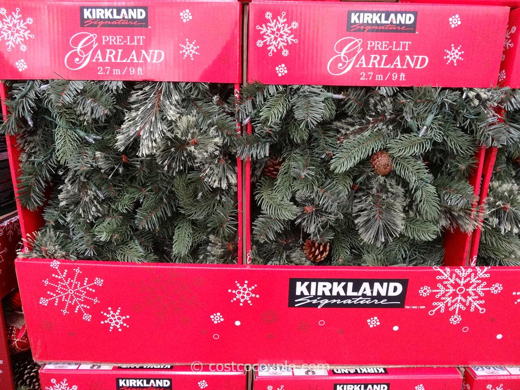 Kirkland Signature Prelit Garland Costco 1