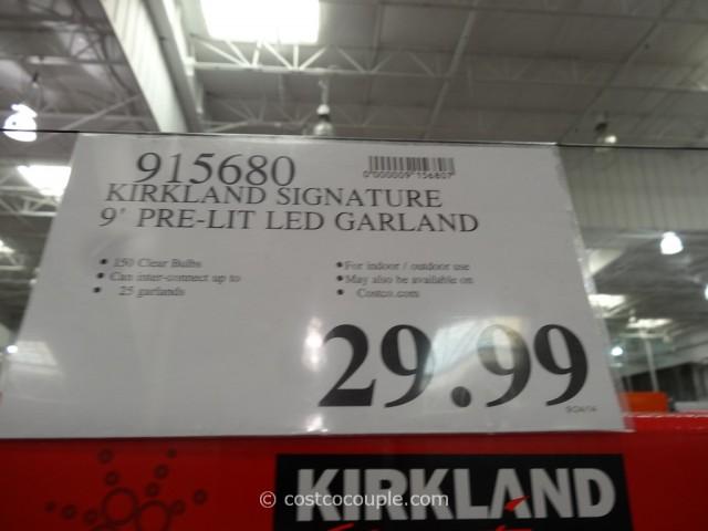 Kirkland Signature Prelit Garland Costco 4