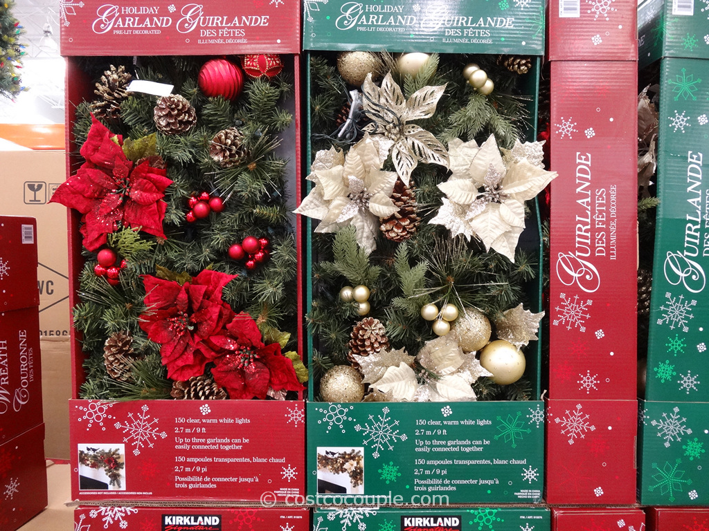Kirkland Signature Prelit Holiday Garland Costco 2