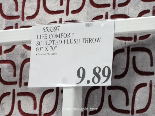 Life Comfort Sculpted Plush Throw Costco 1