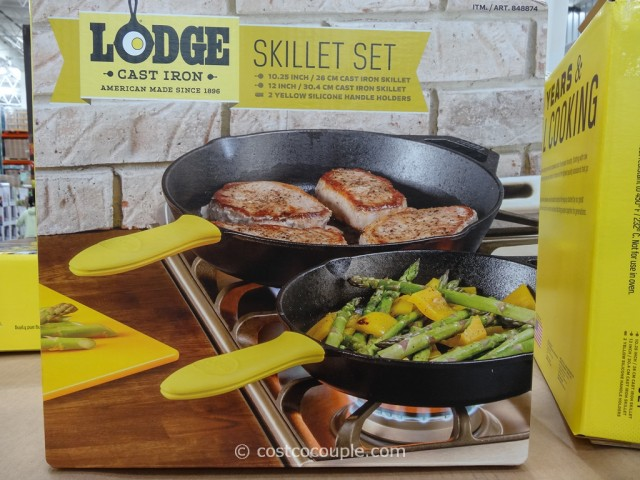 Lodge Cast Iron Skillet Set Costco 3