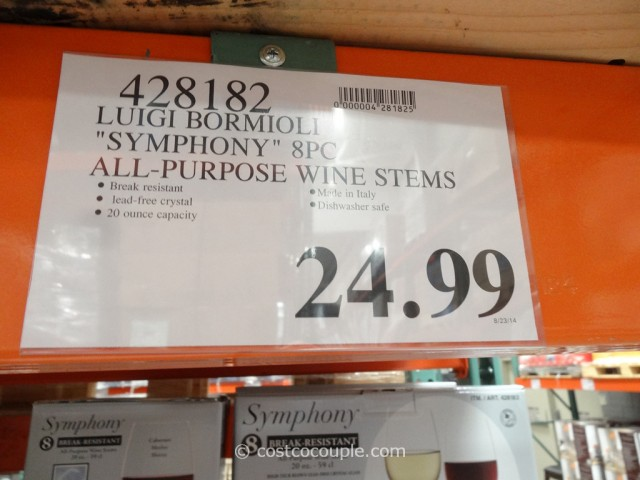 Luigi Bormioli Symphony All-Purpose Wine Stems Costco 1
