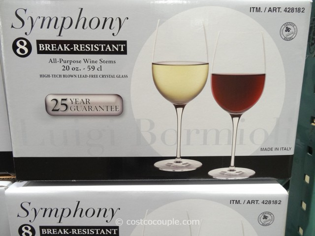 Luigi Bormioli Symphony All-Purpose Wine Stems Costco 3