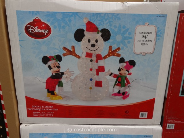Mickey and Minnie Decorating The Snowman Costco 3