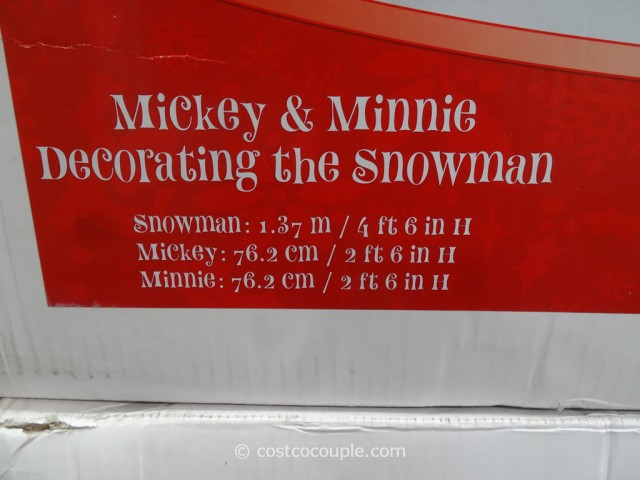 Mickey and Minnie Decorating The Snowman Costco 5