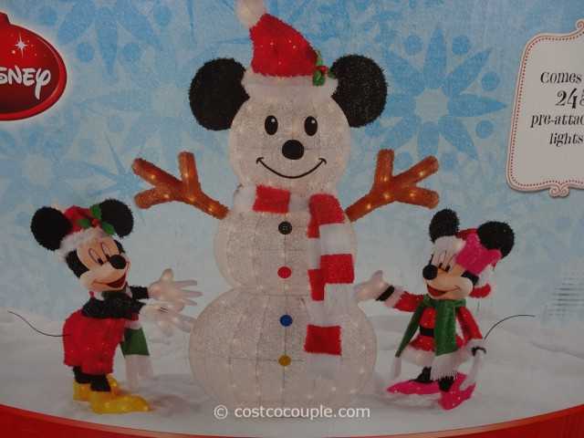 Mickey and Minnie Decorating The Snowman Costco 7