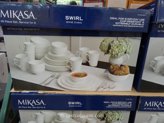 Mikasa Swirl Bone China Set Costco 2 & Mikasa Swirl Bone China Set