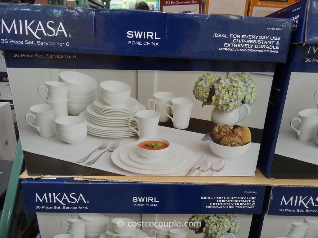 Mikasa Swirl Bone China Set Costco 2