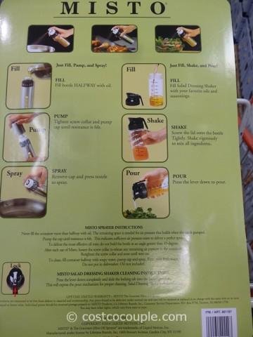 Misto Oil Sprayer and Salad Dressing Shaker Set Costco 4