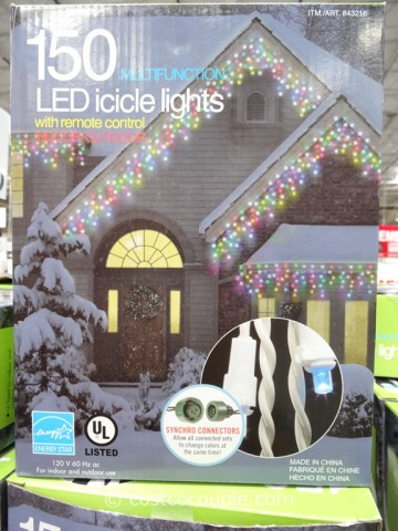 Multifunction 150 LED Icicle Lights Costco 3