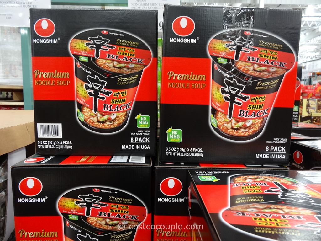 Nongshim Shin Black Premium Noodle Soup Costco 3