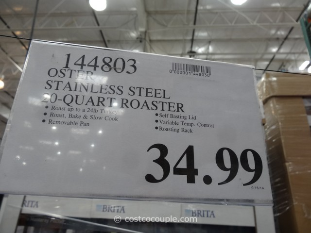 Oster 20-Quart Stainless Steel Roaster Costco 2