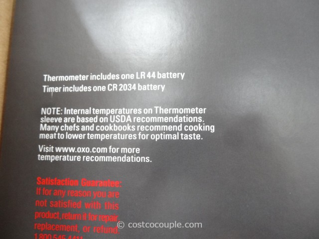 Oxo Digital Thermometer and Magnetic Timer Set Costco 3
