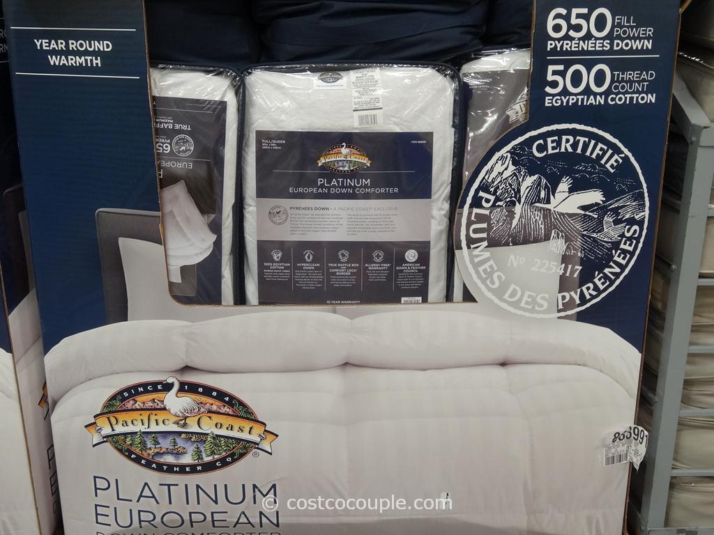 Pacific Coast Platinum European Down Comforter Costco 3