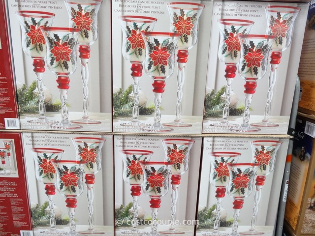 Painted Glass Candle Holders Costco 3