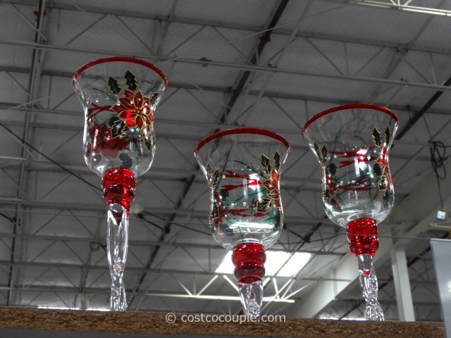 Painted Glass Candle Holders Costco 4