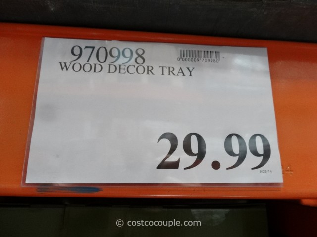 Rustic Wood Tray Costco 1