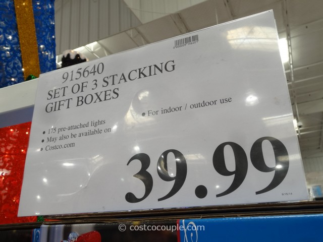 Set of 3 Stacking Gift Boxes Costco 3