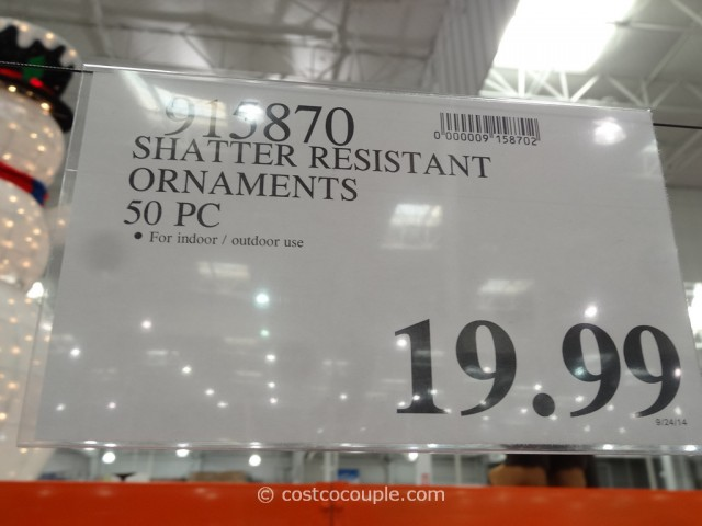 Shatter Resistant Ornaments Costco 4