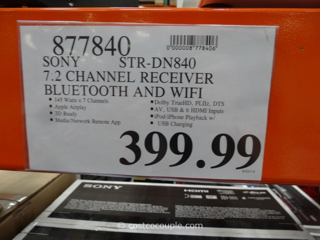 Sony Receiver STR-DN840 Costco 1