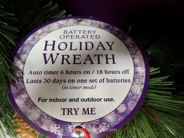 32-Inch Battery Operated Wreath Costco 5