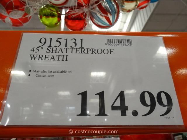45-Inch Shatterproof Ornament Wreath Costco 1