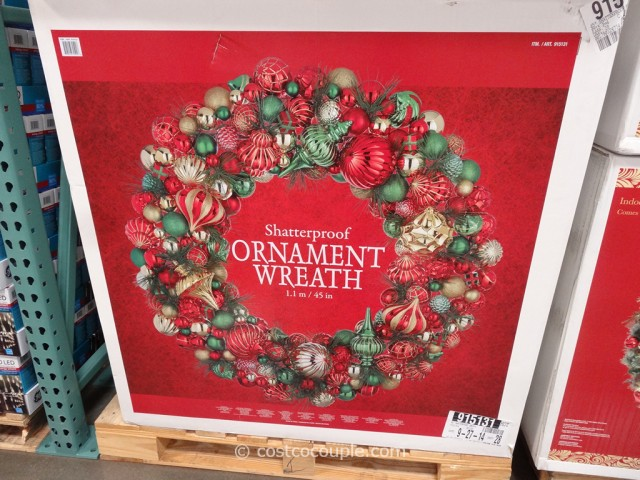 45 Inch Shatterproof Ornament Wreath