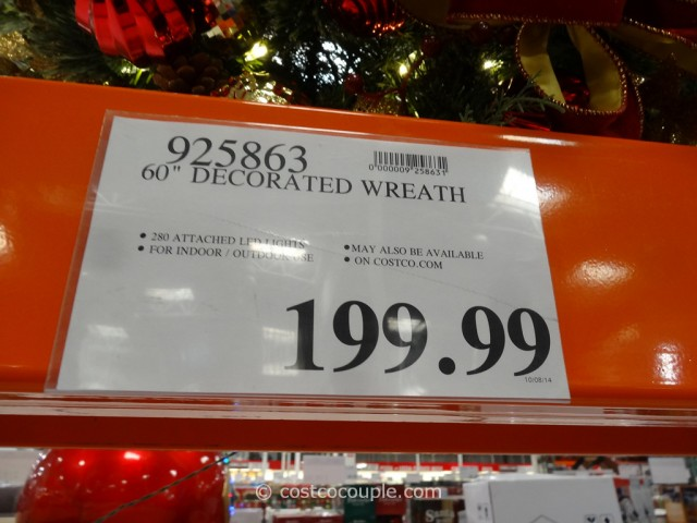 60-Inch Decorated Wreath Costco 1