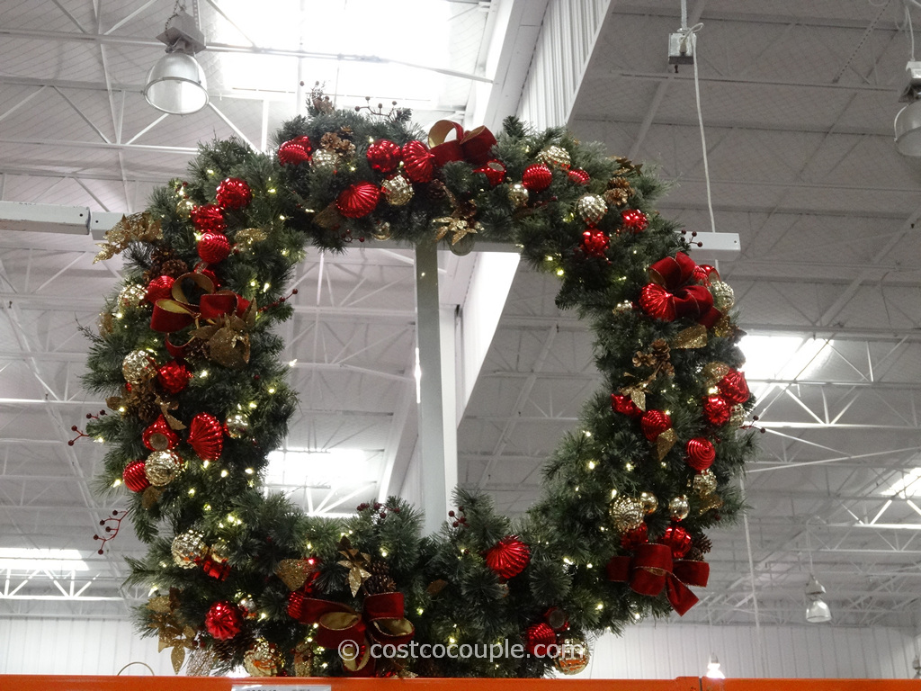 60-Inch Decorated Wreath Costco 2