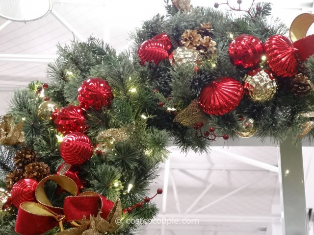 60-Inch Decorated Wreath Costco 3
