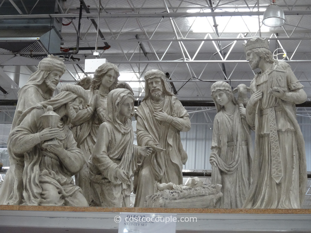 9-Piece Outdoor Nativity Set Costco 2