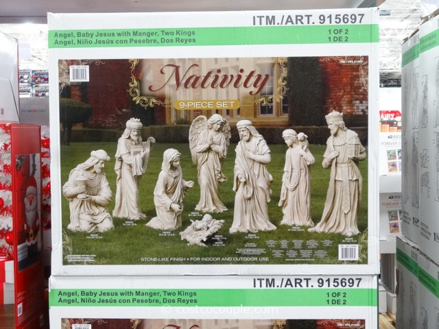 Fabulous 9 Piece Outdoor Nativity Set Download Free Architecture Designs Jebrpmadebymaigaardcom
