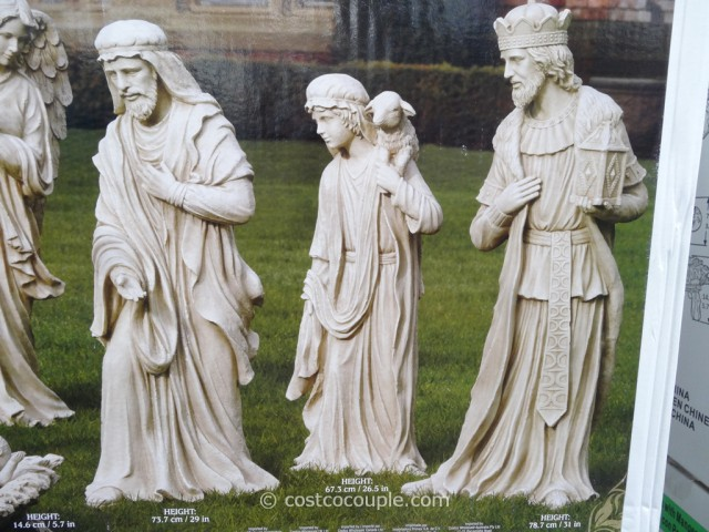9 Piece Outdoor Nativity Set