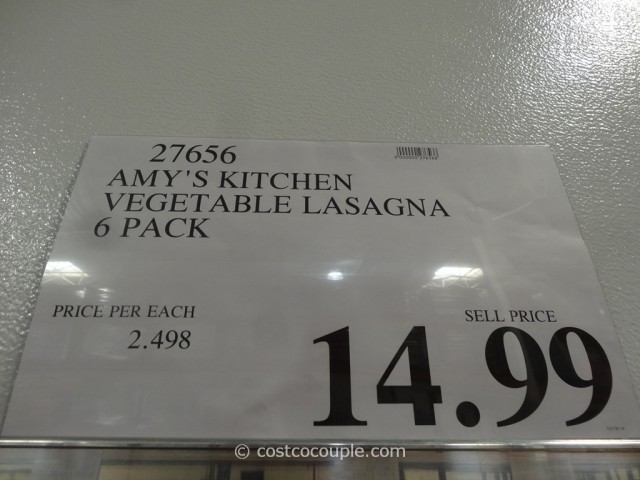 Amys Kitchen Vegetable Lasagna Costco 1