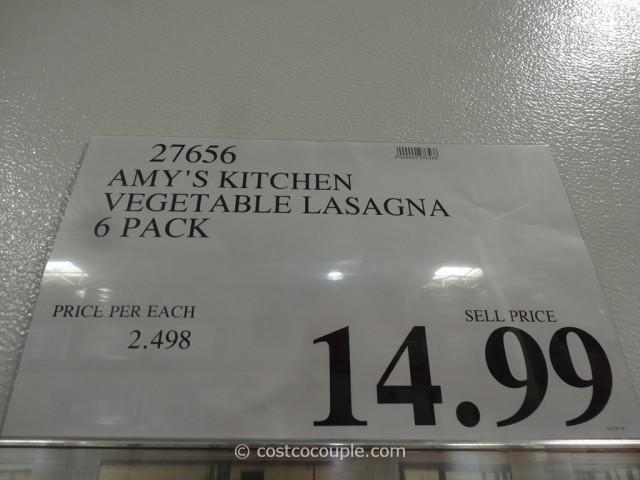 Amy S Kitchen Vegetable Lasagna