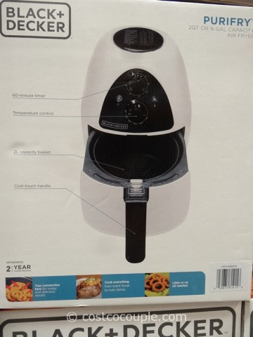 Black and Decker Purifry Air Fryer Costco 4