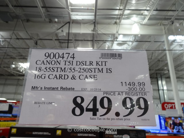 Canon EOS Rebel T51 DSLR Kit  Costco  1