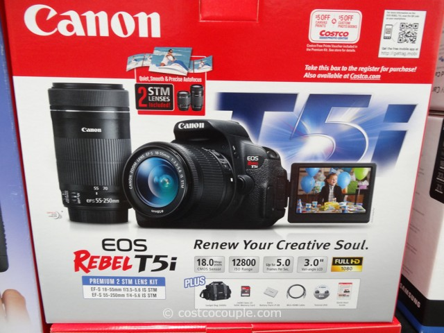Canon EOS Rebel T51 DSLR Kit  Costco  3