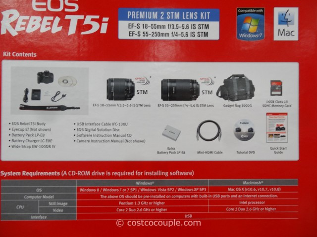 Canon T51 DSLR Kit Costco 6