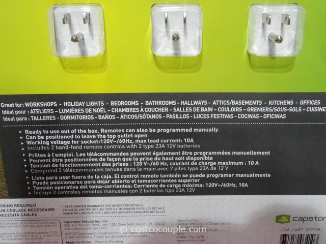 Capstone Wireless Remote Control Outlets Costco 2