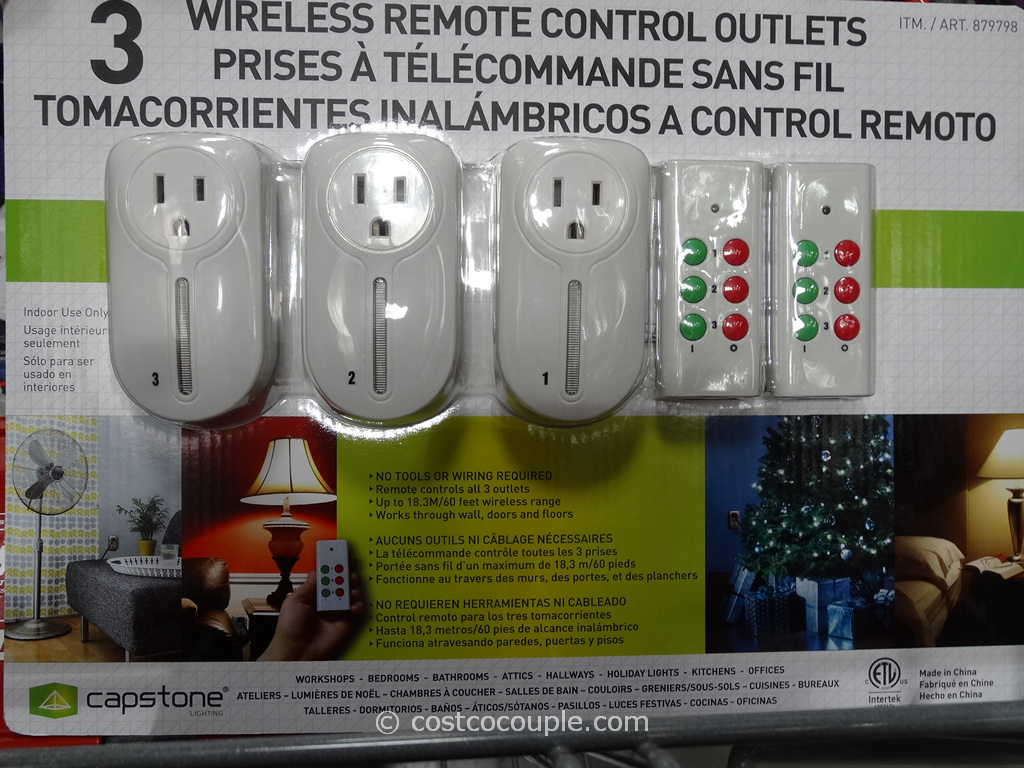 Capstone Wireless Remote Control Outlets Costco 4