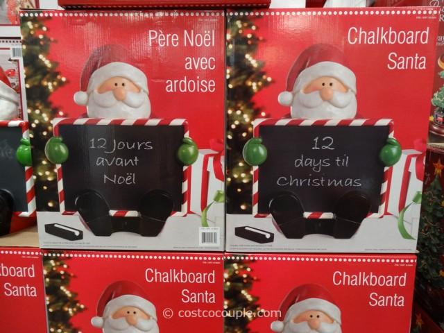 Chalkboard Santa Costco 3