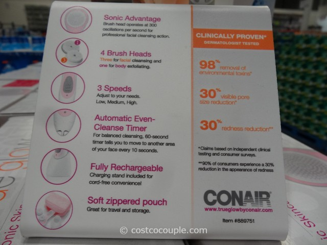 Conair True Glow Sonic Facial Brush Costco 3