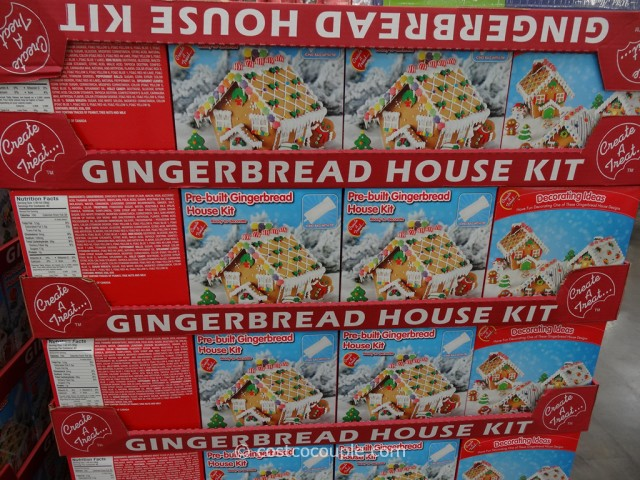Create A Treat Pre-Built Gingerbread House Kit Costco 2