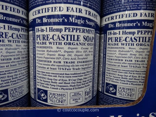 Dr. Bronner's Peppermint Castile Liquid Soap Costco 2
