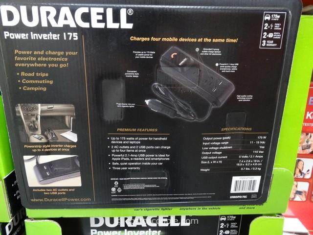 Duracell 175W Power Inverter Costco 3