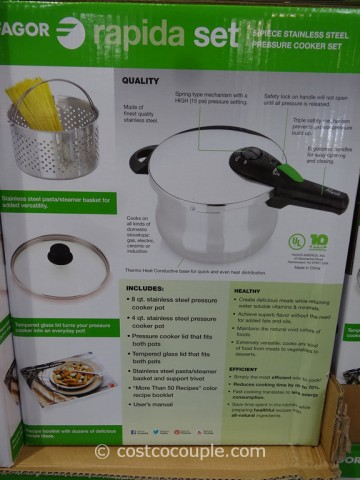 Fagor Rapida Pressure Cooker Set Costco 2