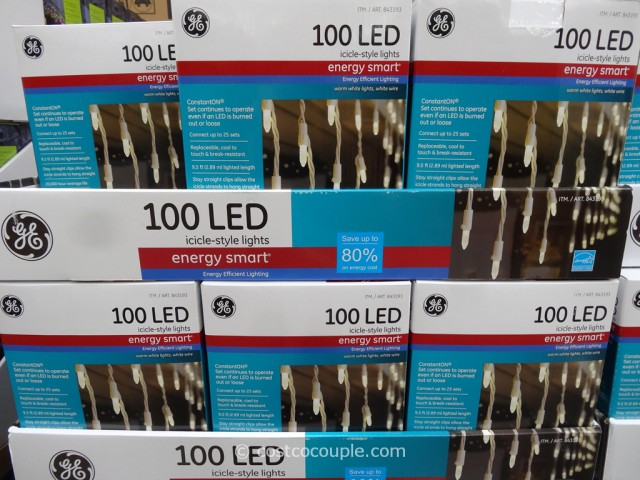 GE Energy Smart Icicle-Style LED Lights Costco 2